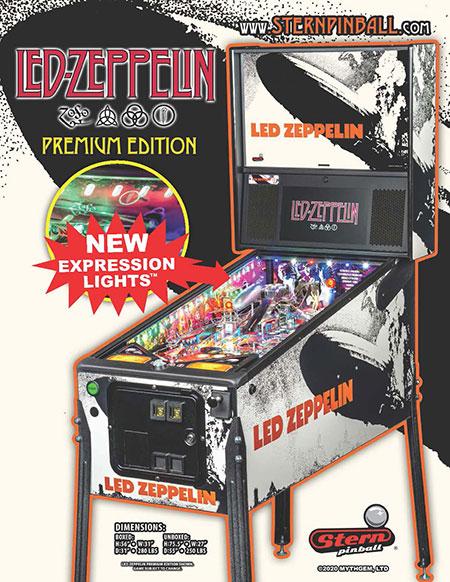 Pinball Led Zeppelin Premium Flyer