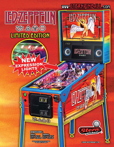 Pinball Led Zeppelin Limited Edition Flyern